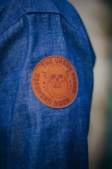 The Urban Beard - Denim x Linseed shirt / Koszula Dżinsowa x Len