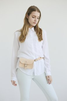 NOSKA - Leather Belt Bag (Natural)