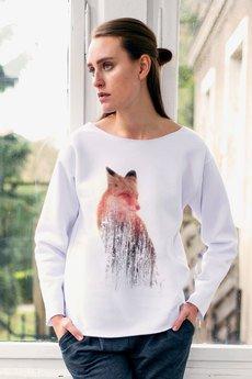 GAU great as You - FOX bluza oversize biała