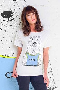 GAU great as You - CZEŚĆ NIEDŹWIEDZIU t-shirt oversize