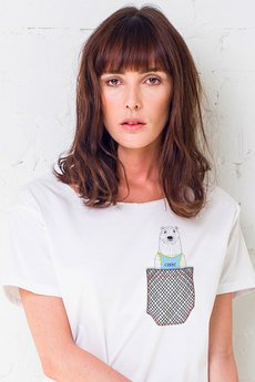 GAU great as You - BEAR IN POCKET t-shirt oversize