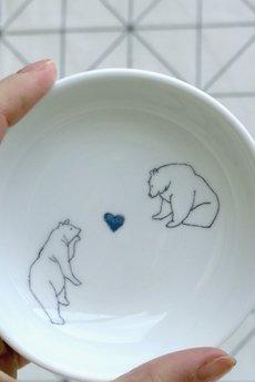 Dixie Lion - talerzyk porcelanowy na drobiazgi BEAR- Dixie Lion