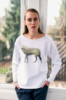 GAU great as You - WOODWOLF bluza oversize biała
