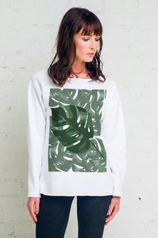 GAU great as You - MONSTERA bluza oversize biała