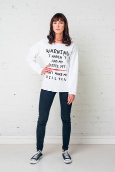 GAU great as You - WARNING bluza oversize biała
