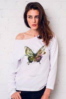 GAU great as You - BUTTERFLY PAINTED Bluzka Oversize