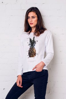 GAU great as You - PINEAPPLE PAINTED Bluzka Oversize