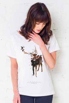 GAU great as You - DEER PAINTED Oversize t-shirt