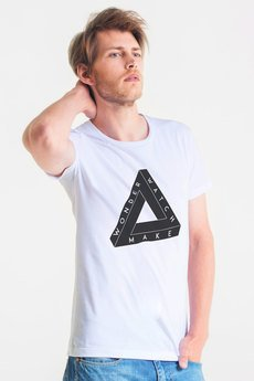 GAU great as You - THREE THINGS - t-shirt męski biały