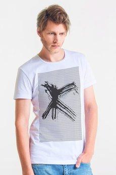 GAU great as You - X MAN - t-shirt męski biały