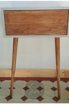 Studio Minimal - Szafka beton+drewno Jasmin