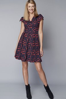 DOROTHÉ - Sukienka z rozcięciami na ramionach