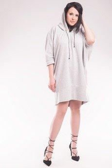 Soleil - Sukienka/Bluza z kapturem SL2154SP Size Plus