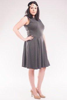 Soleil - Sukienka z dresówki SL2153SP Size Plus