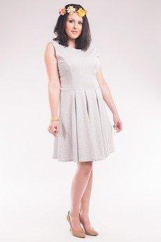 Soleil - Sukienka z dresówki bez rękawów SL2156SP Size Plus