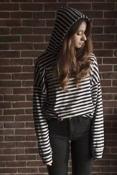 The Hive - OVERSIZED STRIPES LIGHT HOODIE wmns