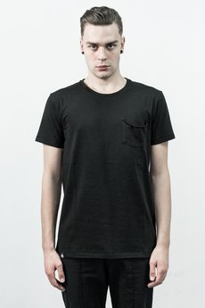 The Hive - RAW POCKET TEE IN BRUSHED BLACK