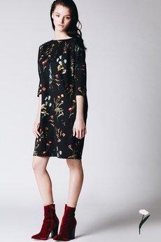 RabbitRabbit! - Dzianinowa sukienka w kwiaty ANGELA