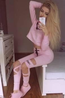 Mar.ska - PINK SWEATSHIRT CUT