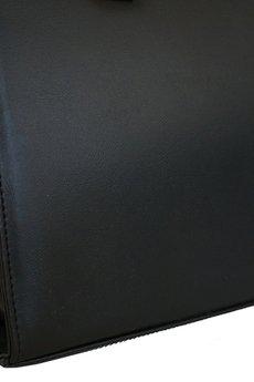 MANZANA - SZTYWNA TOREBKA KUFEREK TRAPEZ czarna