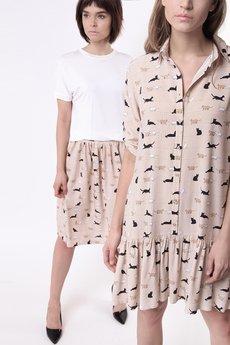 ECHO - Sukienka wzór kotki Ameline