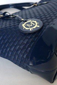 MANZANA - SHOPER BAG koszyk pikowany granatowy