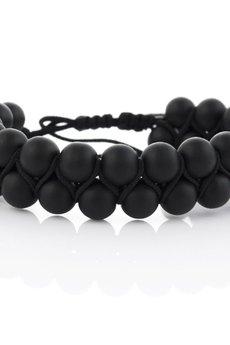 EM Men's Accessories - Bransoletka czarne koraliki kamienie naturalne EM 210