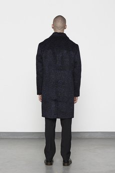 MISBHV - LEOPARD MENS WOOL COAT NAVY