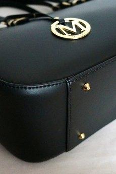MANZANA - SHOPER BAG koszyk czarny II miejski styl PEREŁKA W FORMACIE XXL
