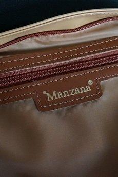 MANZANA - Manzana Listonoszka pikowana - 719 gruba Beżowa + brązowa a'la wąż