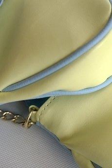 MANZANA - Manzana Listonoszka mała na łańcuszku - WIOSNA  - limonka + błękit