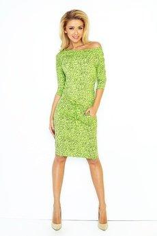 DRESSROAD - SUKIENKA SPORTOWA CASUAL NAPISY zielony