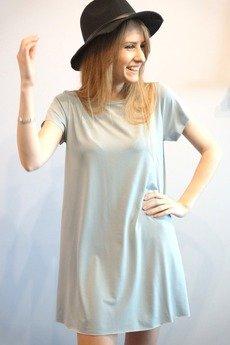 MIW Collection - Sukienka trapezowa z krótkim rękawem