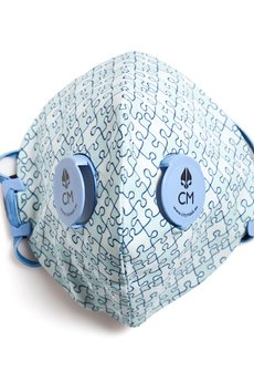 HisOutfit - Maska antysmogowa z węglem aktywnym PUZZLE