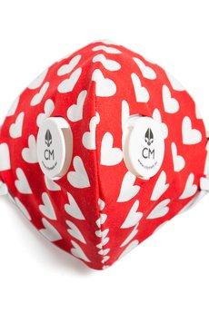 HisOutfit - Maska antysmogowa z węglem aktywnym LOVE