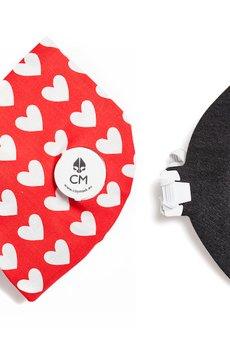 Maska antysmogowa z węglem aktywnym LOVE + 1 filtr - 61073