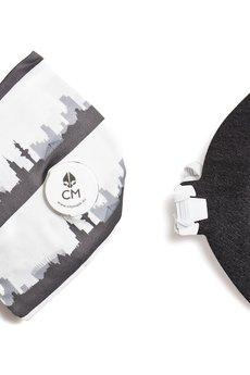 HisOutfit - Maska antysmogowa z węglem aktywnym WARSZAWA + 1 filtr