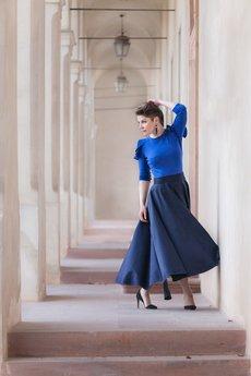 Non Tess - elegancka spódnica maxi wełniana z koła