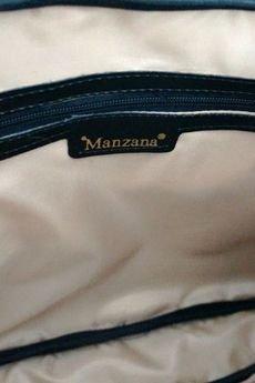 MANZANA - MANZANA BIZNES STYL Torba na Laptopa czarna ortalion