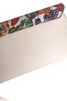 MANZANA - Kopertówka Koperta MANZANA - pudrowy róż - Motyle