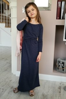 Little maxi long sukienka grafitowy popiel 71b338