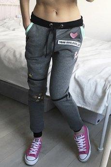 ŁAP NAS - Spodnie z naszywkami i zamkami