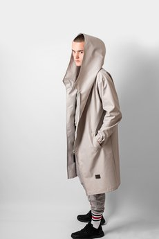 REST FACTORY - HOODIE GREY OVERSIZE COAT