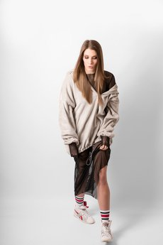 REST FACTORY - OVERSIZE FLUFFY HOODIE