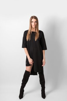 REST FACTORY - T-SHIRT BLACK PANEL DRESS