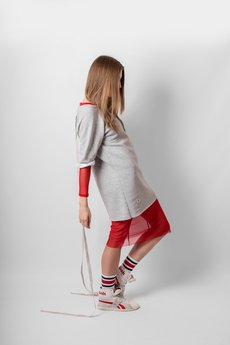 REST FACTORY - RED MESH DRESS