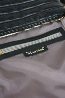 MANZANA - Manzana Listonoszka pikowana złote zameczki  czarna prążek m.757