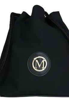 MANZANA - MANZANA Plecak-worek luźny styl CZARNA MATOWA
