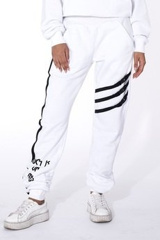 "Mar.ska - WHITE SWEATPANTS ""LUCK IS ON MY SIDE"""