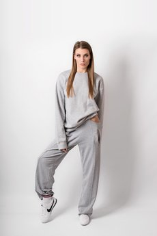 REST FACTORY - GREY CUT SWEATPANTS